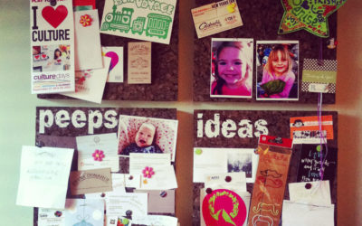 DIY: Stencilled corkboards