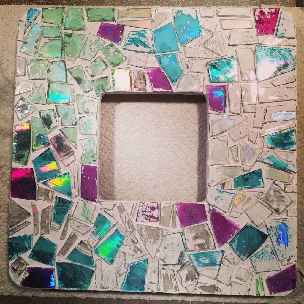 DIY: Mosaic thrift frame   Crafting with Crap