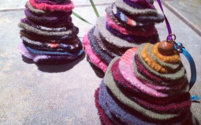 DIY: Wool sweater ornament